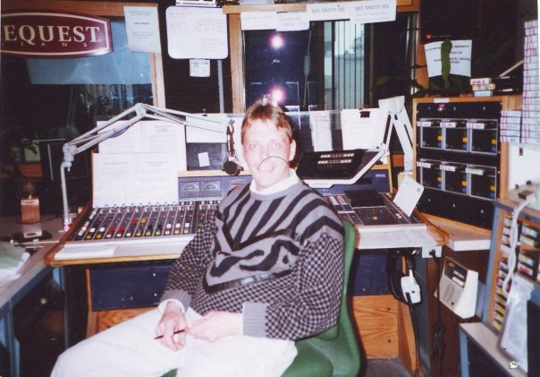 Rob in master control of MIX 96 Montreal