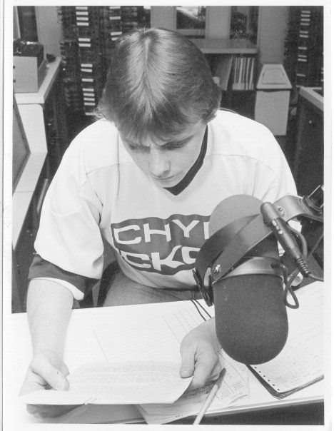 A very young Rob at 570 CHYM Kitchener