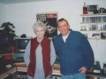 Rob in his studio with author Alice Munro