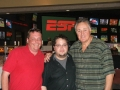 Rob with friend Marc Aflalo and Hockey Great Phil Esposito